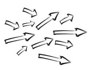 arrows aligned